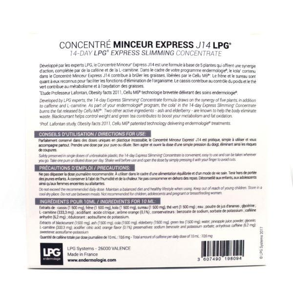 Nutri-cosmétiques-Concentré minceur express J14 (3 boites achetées: la 4eme offerte) LPG®