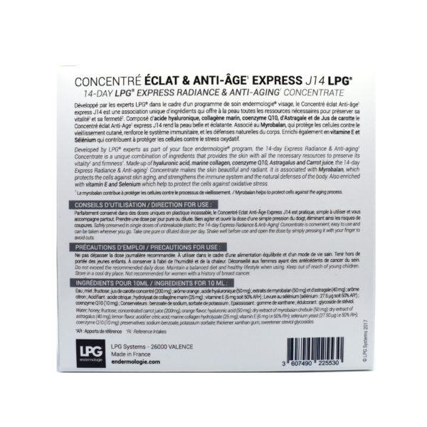 Nutri-cosmétiques-Concentré Eclat & Anti-Age express J14  (3 boites achetées: la 4 ème OFFERTE) LPG®